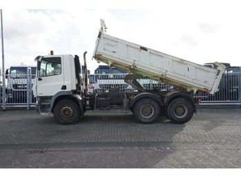 DAF CF 85.340 6X4 3 SIDE TIPPER MANUAL GEARBOX STEEL SUSPENSION 268.000KM - tippbil lastbil