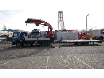 Lastbil Volvo FM 440 8X4 WITH PM 68 S CRANE IN COMBI WITH DINKEL FLATBED TRAILER